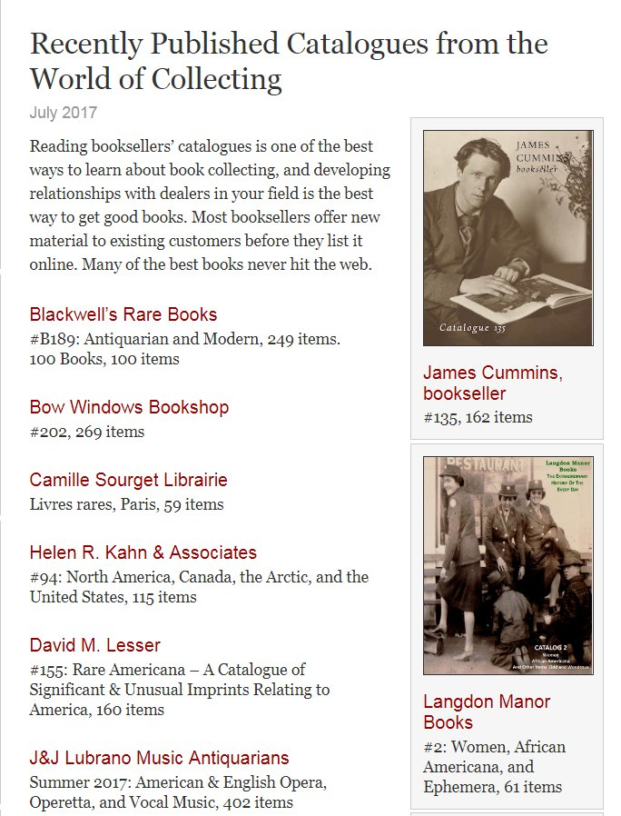 Fine Books and Collections Catalog 2 Inclusion