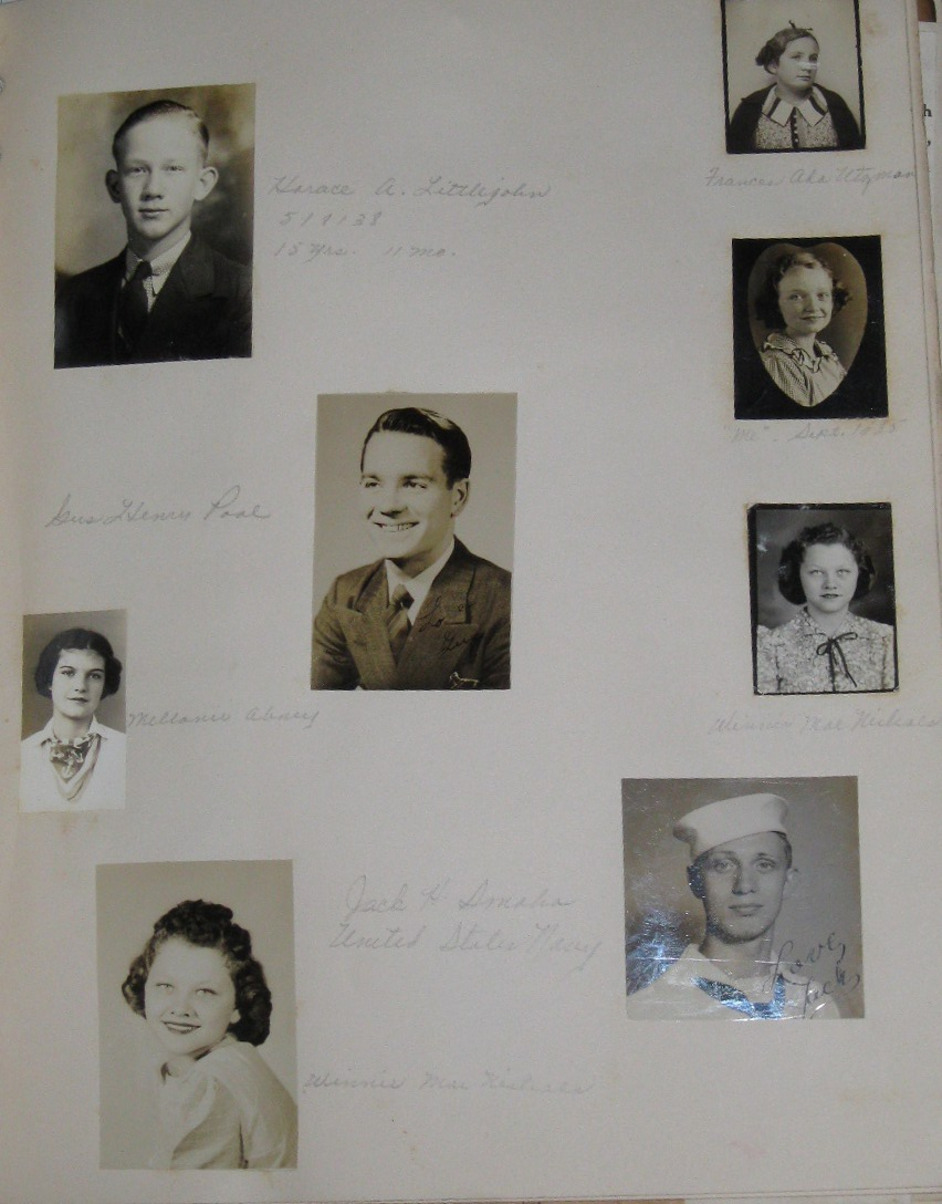 Scrapbook and Photo Album of Young Woman