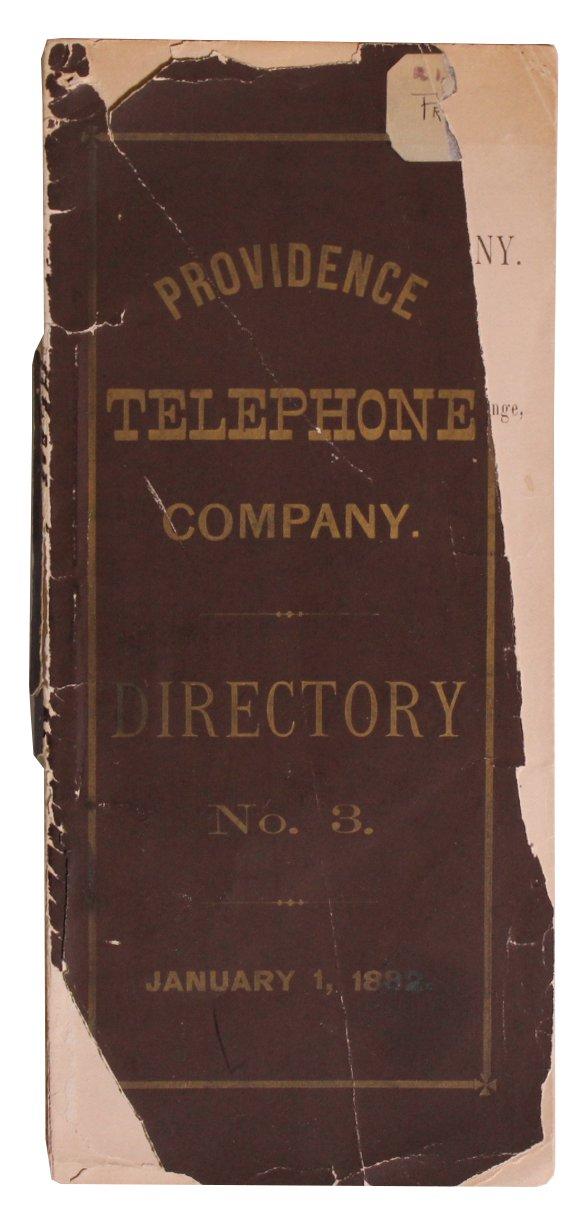 Telephones] Providence Telephone Company. Directory No. 3. (1882 Directory
