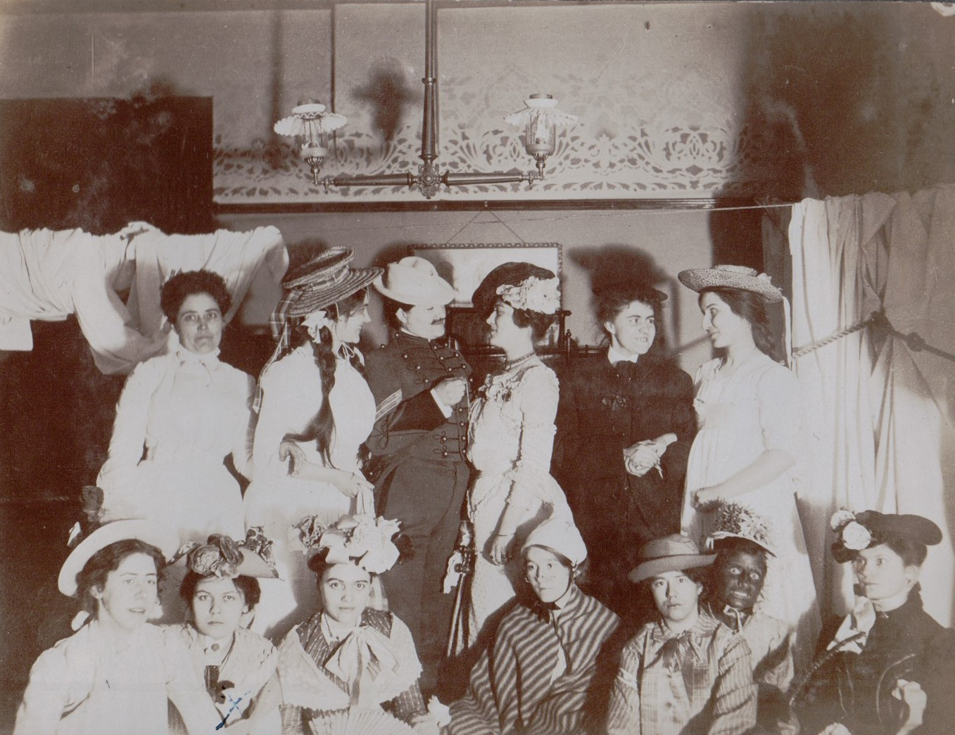 Photo Album of Young Women, Possibly of Delta Gamma Sorority At University of Michigan, Having a...