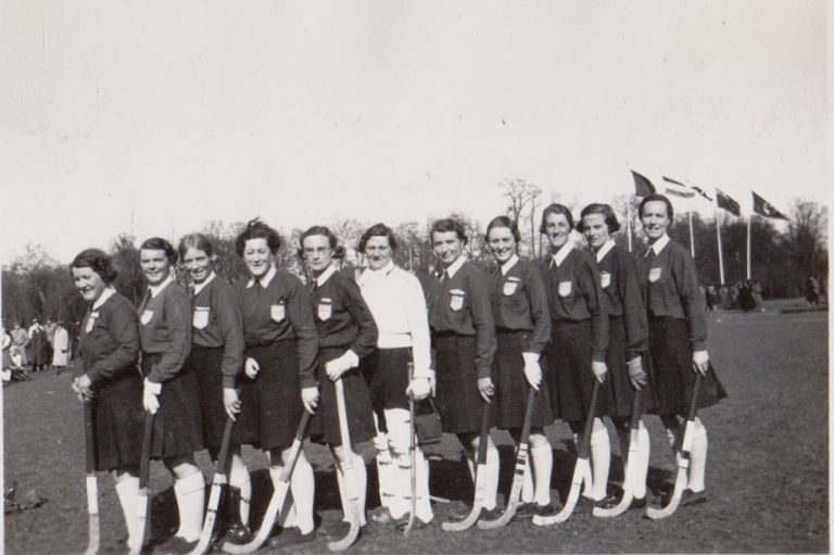 [Women][Sports] Photo Album Depicting a Camp Created by the Founder of Women's Field Hockey in the United States. Constance Mary Katherine Applebee.