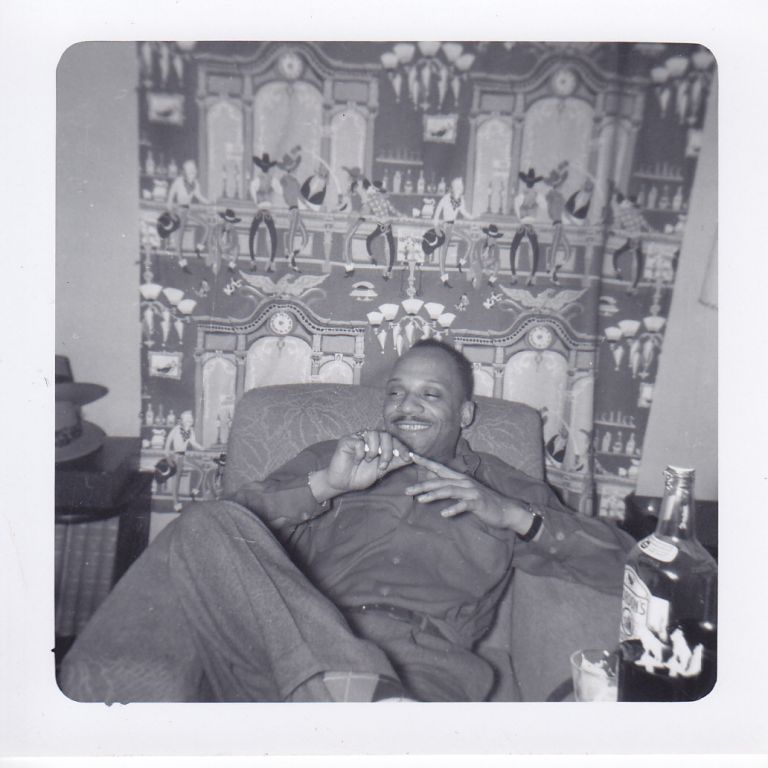 Photographs of Cecil Young and His Band-mates Hanging Out in an Apartment and Including Images of Sarah Vaughn. Cecil Young.