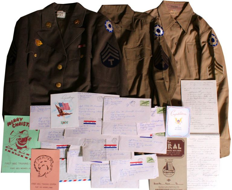 [Women][World War II][Wacs] A Wac's Uniforms, Notebooks and ALSs. Dorothy C. Schutt.