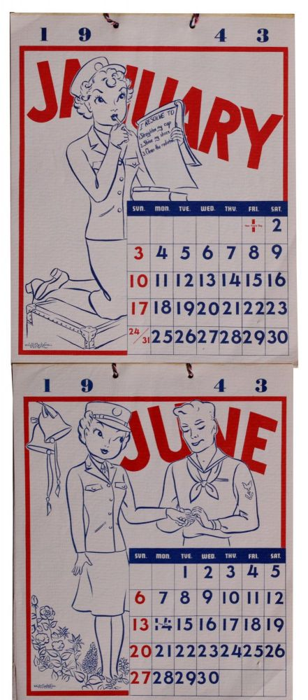 [Women][World War II][Wacs]1943 WAAC Calendar.