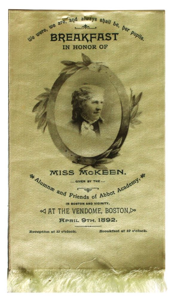[Women][Education] Breakfast in Honor of Miss Mckeen. . Philena Mckeen.
