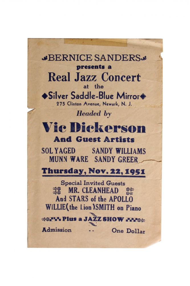 [Jazz][African Americana] VIC Dickerson [Sic] and Guest Artists. Vic Dickenson.