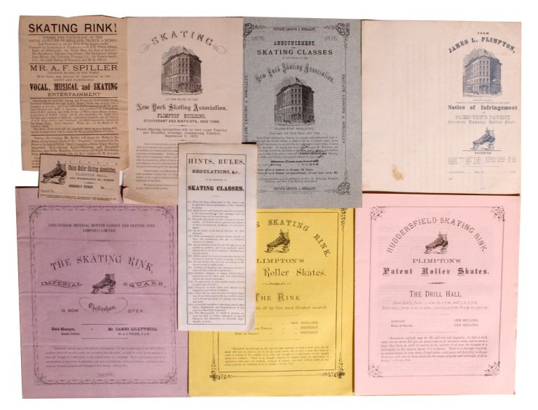 [Roller Skating] Ephemera Related to the Growth of Roller Skating in the United States and England. James Leonard Plimpton.