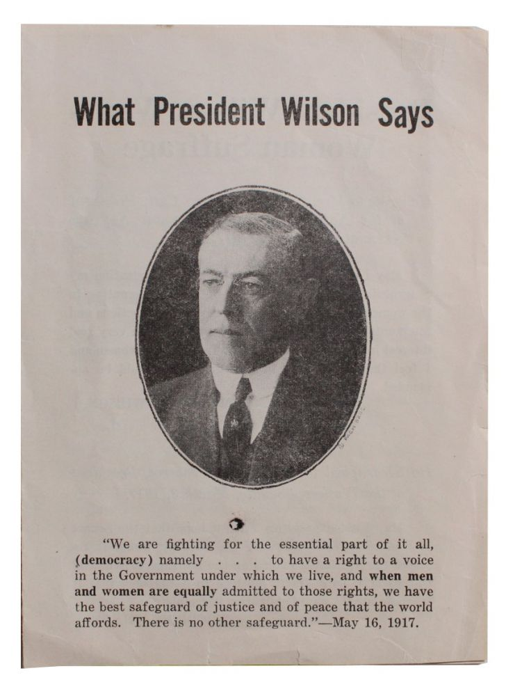 What President Wilson Says [cover title].