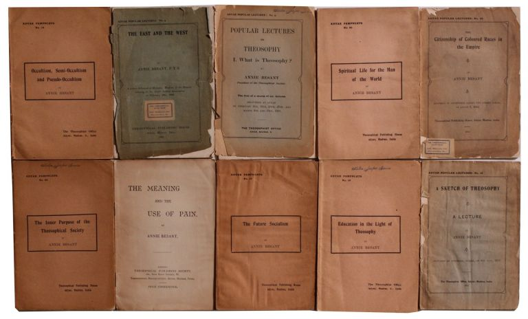 Group of Rare Pamphlets. Annie Besant.
