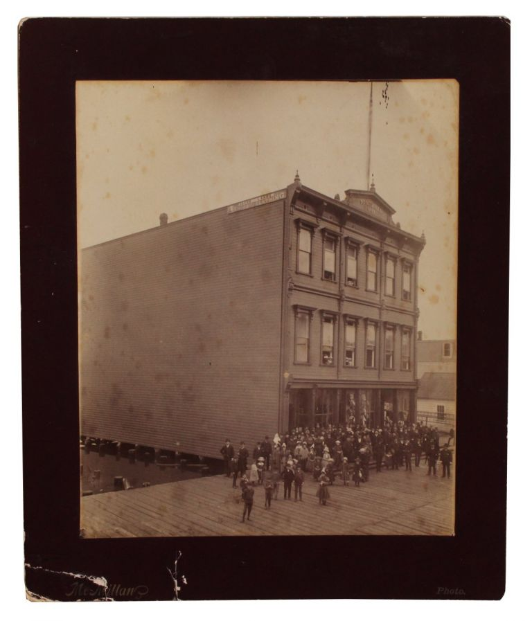 Two Photographs Related to the International Order of Odd Fellows Building Dedication in Marshfield, Oregon.