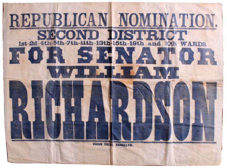 Large Political Campaign Banner. William Richardson.