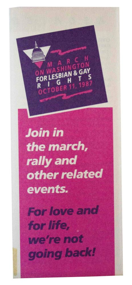 March on Washington for Lesbian and Gay Rights October 11, 1987.