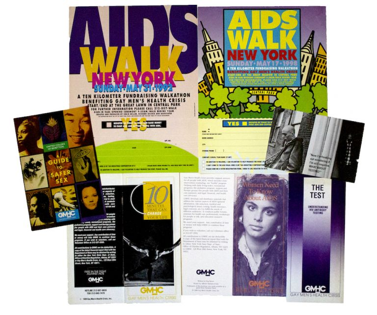 Group of Seven AIDS Educational Items. Gay Men's Health Crisis.