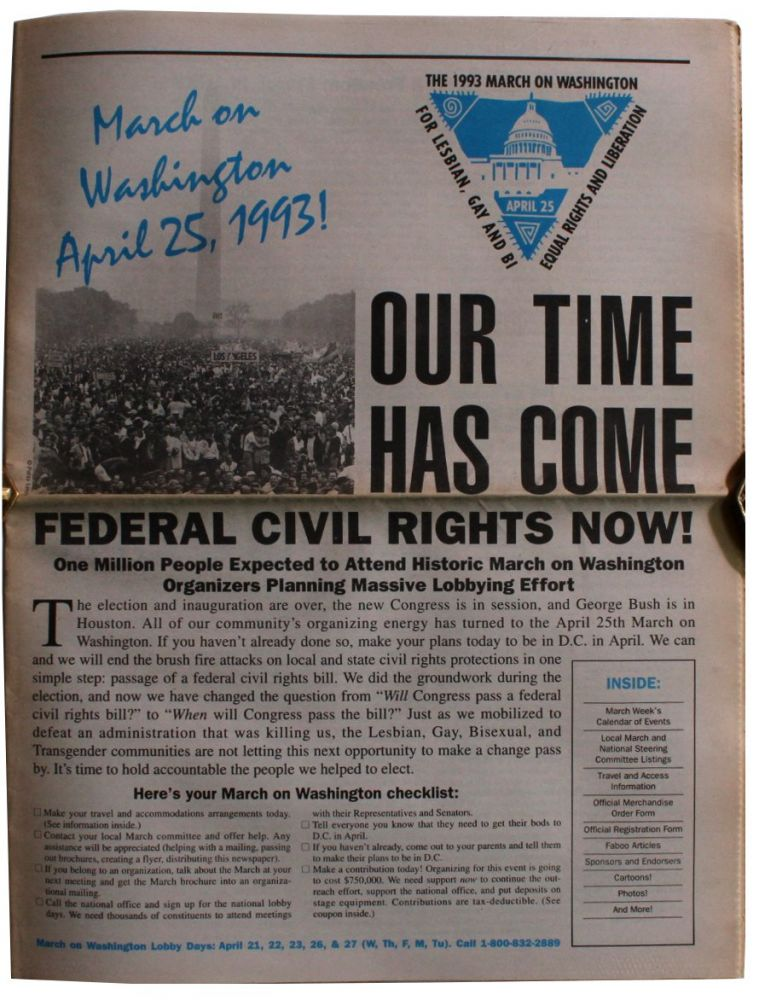 Our Time Has Come. Federal Civil Rights Now!