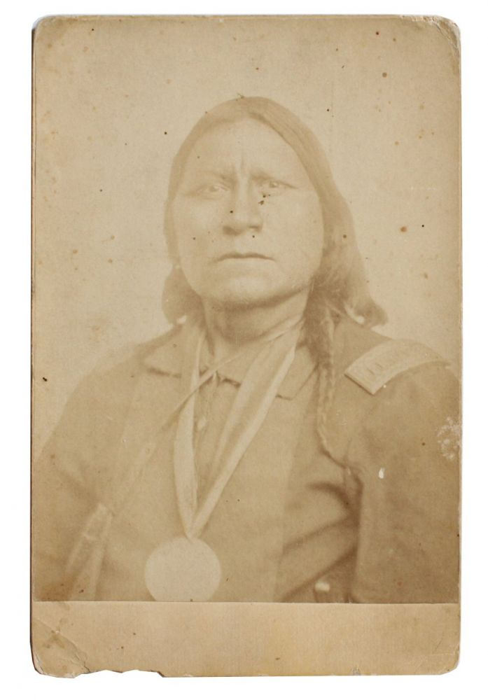 Photograph of Satanta (a/k/a Set'tainte or White Bear), Kiowa War Chief.