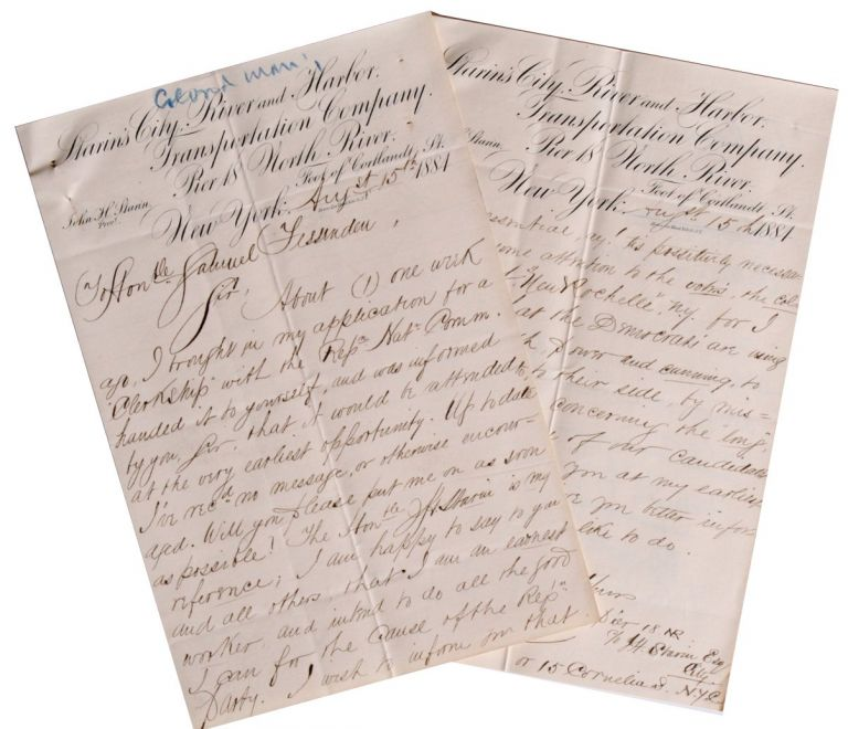 [African Americana][Politics] Letter from African American Man Offering Service to Republican National Committee. J. B. Lecompte.
