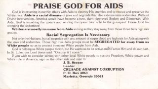 [Hate][Civil Rights][Lgbtq][Aids]praise God for AIDS. J. B. Stoner.