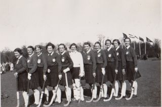 [Women][Sports] Photo Album Depicting a Camp Created by the Founder of Women's Field Hockey in...