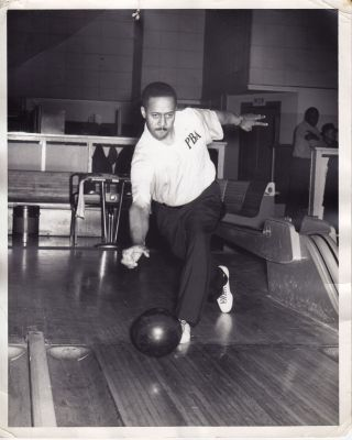 Two Photographs of African American Professional Bowlers