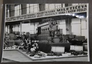 [Automobiles and Industrial Equipment] Photo Album Likely Depicting Serbian Automobile and Industrial Goods Business.