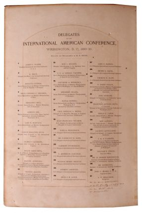 Delegates to the International American Conference, Washington, D. C. , 1889-'90.