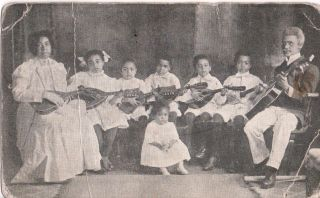 [African-Americana][Music]rousseau Family of Musicians Advertising Postcard