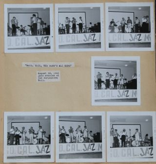 Jazz][California] Photo Album and Scrapbook of the Kern County Hot Jazz Society