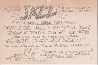 [Jazz][California] Photo Album and Scrapbook of the Kern County Hot Jazz Society.