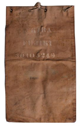 [Japanese Americans][World War II]laundry Bag of Japanese American Soldier Who Served with the 442nd Regimental Combat Team. Akira Fujiki.