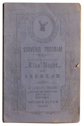 Souvenir Program Fourth Annual Elks' Night [Cover title