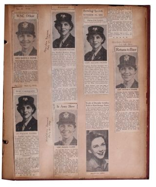 [Women][World War II][WACs] Scrapbook and Artifacts of One of the First WAAC Officer Candidates.