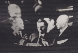 Television Screen Shots of Second Inauguration of Lyndon B. Johnson.