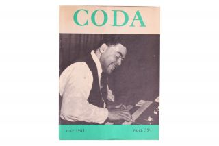 [African-Americana][Jazz][Fats Waller] Coda the Canadian Jazz Magazine. Vol. 5 No. 10. May 1963. John Norris.
