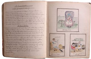 Collection of Handwritten and Illustrated Children's Stories and Poems.