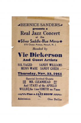 Jazz][African Americana] VIC Dickerson [Sic] and Guest Artists. Vic Dickenson
