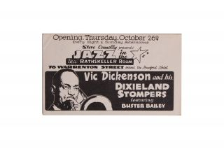 Jazz][African Americana] VIC Dickenson and His Dixieland Stompers. Vic Dickenson