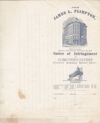 [Roller Skating] Ephemera Related to the Growth of Roller Skating in the United States and England.