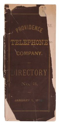 [Telephones] Providence Telephone Company. Directory No. 3. (1882 Directory)