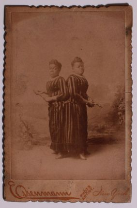 Cabinet Card Photograph of Millie and Christine Mccoy. Charles Eisenmann.
