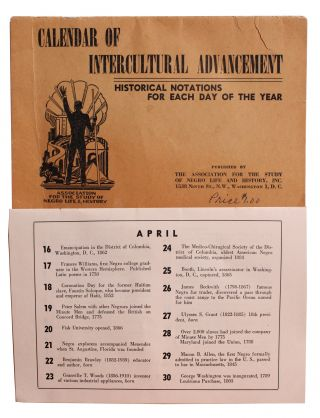Calendar of Intercultural Advancement. Historical Notations for Each Day of the Year [Cover...