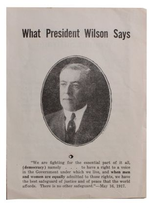 What President Wilson Says [cover title