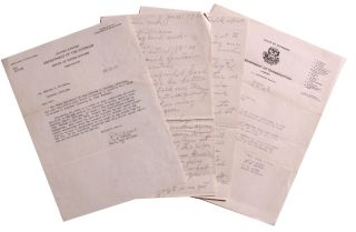 Correspondence to Native American Who Won the Distinguished Service Cross in World War I.