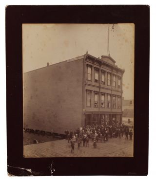 Two Photographs Related to the International Order of Odd Fellows Building Dedication in...