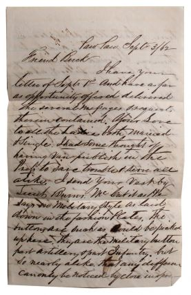 Letter from Paw Paw Merchant to Member of 4th Michigan Cavalry. L. Stevens, Homas