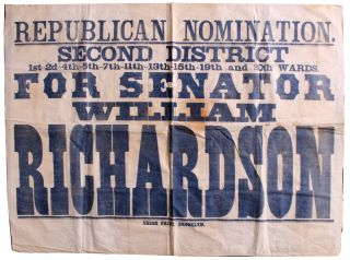 Large Political Campaign Banner. William Richardson