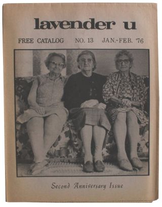 Lavender U. Jan-Feb. 1976. No. 13. Kevin Burke, Murray Edelman