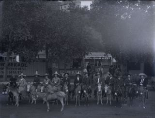 """Large Glass Plate Negatives Depicting the """"Burro Brigade."""""""