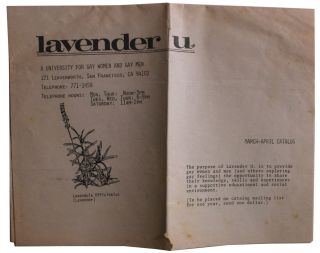 Lavender U. March-April Catalog. Kevin Burke, Murray Edelman