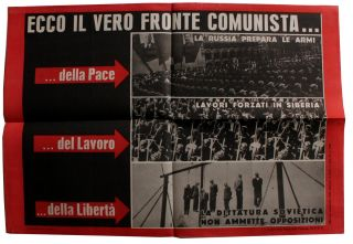 Collection of Posters for the Christian Democratic Party in Italy's 1948 Elections.