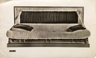 [UNDERTAKERS & FUNERAL SUPPLIES -- PHOTO ARCHIVE]. [Hardwood and Covered Caskets Salesman's Sample Photo Archive Comprised of 157 Photographs of Wooden and Metal Caskets for Burials, before and after World War II]